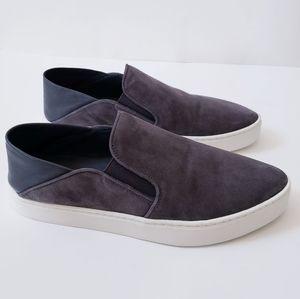 Vince Suede & Leather Garvey Slip On Sneaker Gray